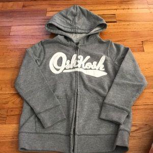 EUC Grey OshKosh Sweatshirt Hoodie size 6